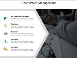Recruitment Management Ppt Powerpoint Presentation Icon Brochure Cpb