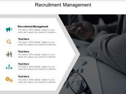 Recruitment Management Ppt Powerpoint Presentation Icon Brochure Cpb