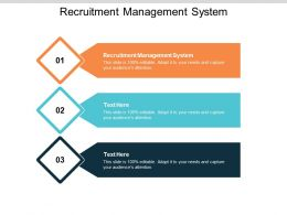 Recruitment Management System Ppt Powerpoint Presentation Model Good Cpb