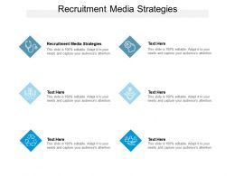 Recruitment Media Strategies Ppt Powerpoint Presentation Infographics Infographic Cpb