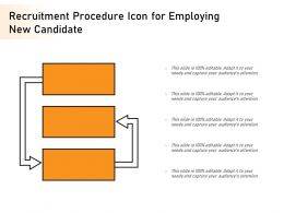 Recruitment Procedure Icon For Employing New Candidate