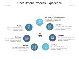 Recruitment Process Experience Ppt Powerpoint Presentation Layouts Ideas Cpb