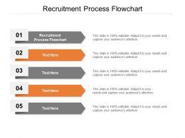 Recruitment Process Flowchart Ppt Powerpoint Presentation Professional Rules Cpb