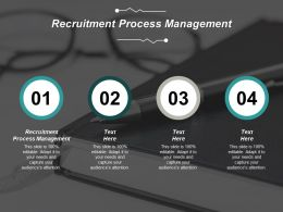 Recruitment Process Management Ppt Powerpoint Presentation Professional Clipart Cpb