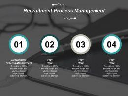 Recruitment Process Management Ppt Powerpoint Presentation Professional Clipart Cpb