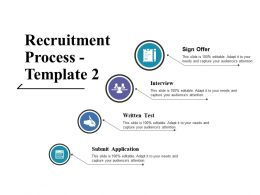 Recruitment Process Ppt Icon