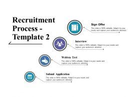 Recruitment Process Ppt Icon