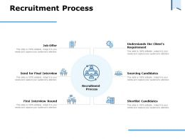 Recruitment Process Ppt Powerpoint Presentation Summary Graphics Template