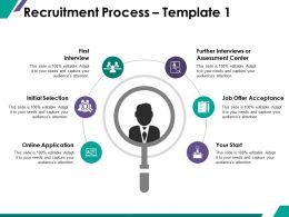 Recruitment Process Ppt Summary Graphics Design