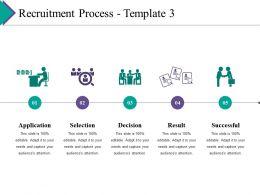 Recruitment Process Ppt Summary Visual Aids