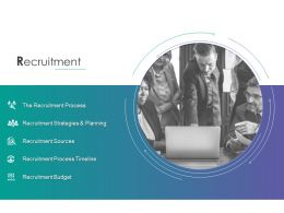 Recruitment Process Timeline Budget Ppt Powerpoint Presentation Icon Display