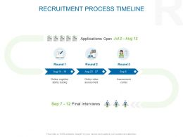 Recruitment Process Timeline Ppt Powerpoint Presentation File
