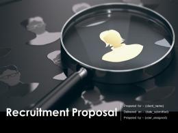 Recruitment Proposal Template Powerpoint Presentation Slides