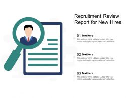 Recruitment Review Report For New Hires