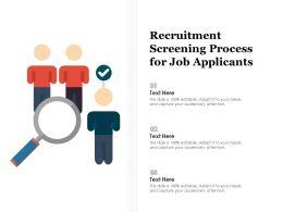 Recruitment Screening Process For Job Applicants