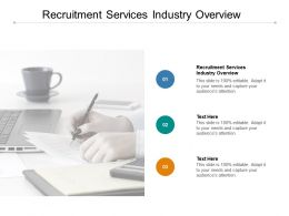 Recruitment Services Industry Overview Ppt Powerpoint Presentation Shapes Cpb