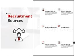 Recruitment Sources Employee Referrals Ppt Powerpoint Presentation File Guide