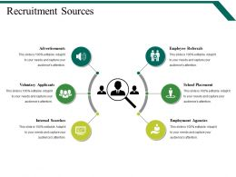 Recruitment Sources Powerpoint Slide Graphics