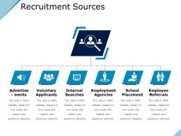Recruitment Sources Presentation Graphics