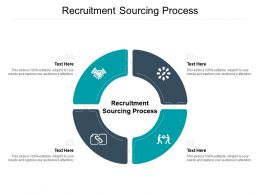 Recruitment Sourcing Process Ppt Powerpoint Presentation Summary Samples Cpb