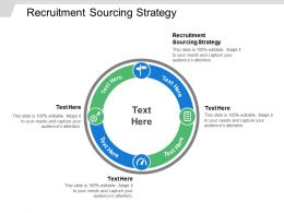 Recruitment Sourcing Strategy Ppt Powerpoint Presentation File Slides Cpb