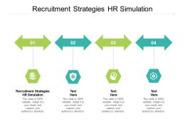 Recruitment Strategies HR Simulation Ppt Powerpoint Presentation Professional Model Cpb
