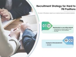 Recruitment Strategy For Hard To Fill Positions