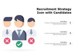 Recruitment Strategy Icon With Candidates