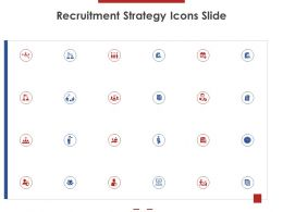 Recruitment Strategy Icons Slide Ppt Powerpoint Presentation Styles Slides