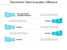 Recruitment Talent Acquisition Difference Ppt Powerpoint Presentation Icon Graphics Cpb