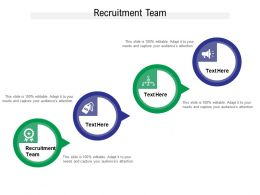 Recruitment Team Ppt Powerpoint Presentation Diagram Ppt Cpb