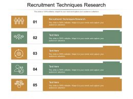 Recruitment Techniques Research Ppt Powerpoint Presentation Summary Skills Cpb