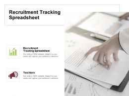 Recruitment Tracking Spreadsheet Ppt Powerpoint Presentation Model Pictures Cpb