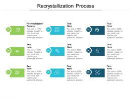 Recrystallization Process Ppt Powerpoint Presentation Gallery Good Cpb