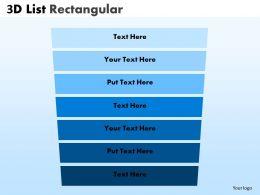Rectangular List Design With Sales