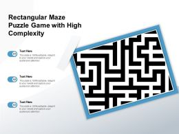 Rectangular Maze Puzzle Game With High Complexity
