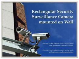 Rectangular Security Surveillance Camera Mounted On Wall