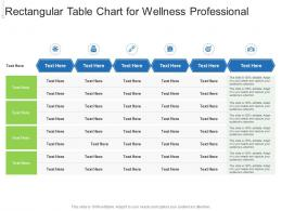 Rectangular Table Chart For Wellness Professional Infographic Template