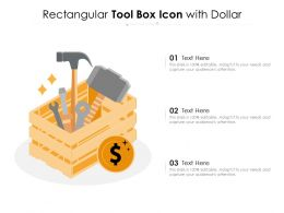 Rectangular Tool Box Icon With Dollar