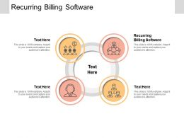 Recurring Billing Software Ppt Powerpoint Presentation Infographics Inspiration Cpb