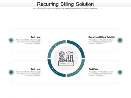 Recurring Billing Solution Ppt Powerpoint Presentation Model Maker Cpb