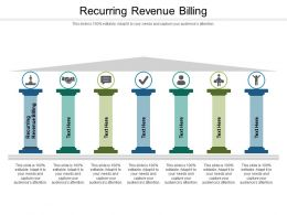 Recurring Revenue Billing Ppt Powerpoint Presentation Gallery Structure Cpb