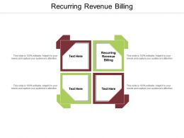 Recurring Revenue Billing Ppt Powerpoint Presentation Portfolio Graphics Cpb