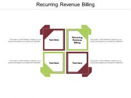 Recurring Revenue Billing Ppt Powerpoint Presentation Portfolio Graphics Cpb