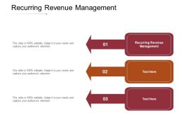 Recurring Revenue Management Ppt Powerpoint Presentation Styles Design Templates Cpb