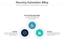 Recurring Subscription Billing Ppt Powerpoint Presentation Professional Example Topics Cpb