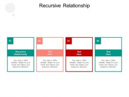 Recursive Relationship Ppt Powerpoint Presentation Infographic Template Format Cpb