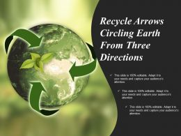 Recycle Arrows Circling Earth From Three Directions