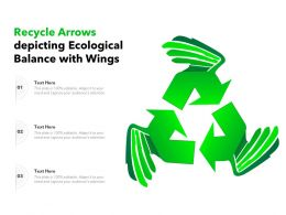 Recycle Arrows Depicting Ecological Balance With Wings
