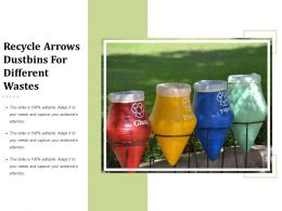 Recycle Arrows Dustbins For Different Wastes
